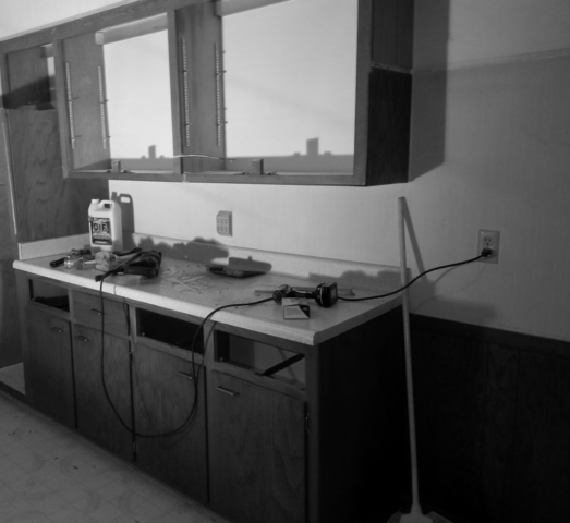 Demolition of sixties kitchen during renovation