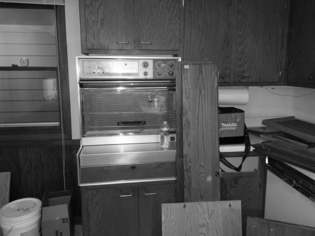 Antique Frigidaire Pull Down Cooktop Before Renovation